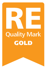 RE Quality Mark Gold Logo